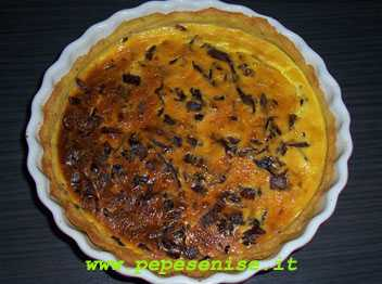 QUICHE AL RADICCHIO IN CROSTA DI PATATE