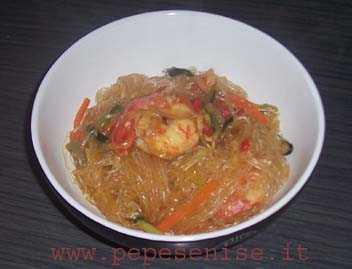 Spaghetti di soia e gamberi oggi vi propongo un piatto for Una salsa da cucina cinese